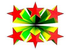 τρισδιάστατα αστέρια Στοκ Εικόνες