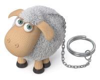 τρισδιάστατα αστεία πρόβατα απεικόνισης Στοκ φωτογραφία με δικαίωμα ελεύθερης χρήσης