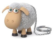 τρισδιάστατα αστεία πρόβατα απεικόνισης Στοκ Εικόνα