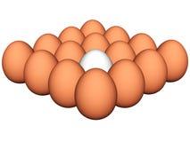 τρισδιάστατα αυγά Στοκ φωτογραφία με δικαίωμα ελεύθερης χρήσης