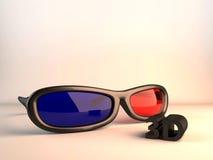 τρισδιάστατα γυαλιά στοκ εικόνα με δικαίωμα ελεύθερης χρήσης
