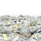 τρισδιάστατα δίνοντας μέρη των πακέτων των αμερικανικών δολαρίων Στοκ Φωτογραφία