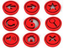 τρισδιάστατα εικονίδια ελεύθερη απεικόνιση δικαιώματος