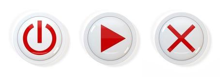 τρισδιάστατα κουμπιά Στοκ Εικόνες