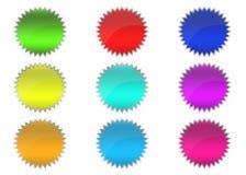 τρισδιάστατα κουμπιά Στοκ εικόνα με δικαίωμα ελεύθερης χρήσης