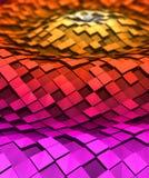 τρισδιάστατα κύματα κύβων ελεύθερη απεικόνιση δικαιώματος