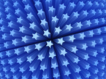 τρισδιάστατα μπλε αστέρια διανυσματική απεικόνιση