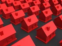 τρισδιάστατα σπίτια απλά διανυσματική απεικόνιση
