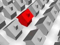 τρισδιάστατα σπίτια Στοκ Εικόνα