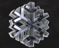 τρισδιάστατα σύμβολα χιονιού νιφάδων ελεύθερη απεικόνιση δικαιώματος