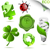 τρισδιάστατα σύμβολα eco διανυσματική απεικόνιση