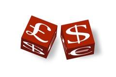 τρισδιάστατα χρήματα κύβων Στοκ Εικόνες
