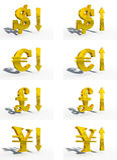 τρισδιάστατα χρήματα νομίσ& Ελεύθερη απεικόνιση δικαιώματος