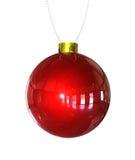 τρισδιάστατα Χριστούγεννα σφαιρών που απομονώνονται διανυσματική απεικόνιση