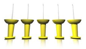 τρισδιάστατα pushpins Στοκ Φωτογραφία