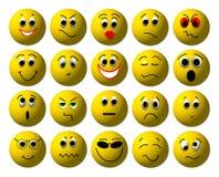 τρισδιάστατα smileys ελεύθερη απεικόνιση δικαιώματος