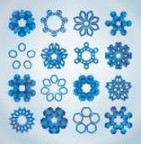 τρισδιάστατα snowflakes Χριστου&gam Στοκ φωτογραφία με δικαίωμα ελεύθερης χρήσης