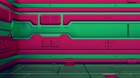 τρισδιάστατες απεικονίσεις του ρεαλιστικού διαστημοπλοίου sci-Fi Επιστήμη Χριστουγέννων ελεύθερη απεικόνιση δικαιώματος