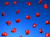 τρισδιάστατες καρδιές Στοκ Εικόνες
