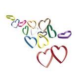 τρισδιάστατες καρδιές Στοκ εικόνες με δικαίωμα ελεύθερης χρήσης