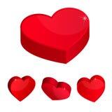 τρισδιάστατες καρδιές Στοκ Φωτογραφία