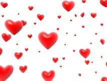τρισδιάστατες καρδιές διανυσματική απεικόνιση