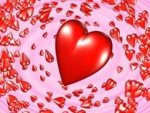 τρισδιάστατες καρδιές Στοκ Φωτογραφίες