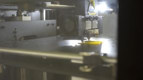 τρισδιάστατες λεπτομέρειες εκτύπωσης τρισδιάστατος εκτυπωτής για την εκτύπωση των πολύχρωμων παιχνιδιών απόθεμα βίντεο