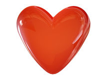 τρισδιάστατη αγάπη καρδιών  Διανυσματική απεικόνιση