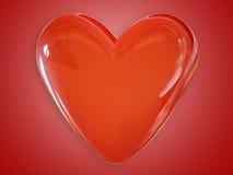 τρισδιάστατη αγάπη καρδιών  Απεικόνιση αποθεμάτων