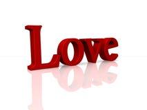 τρισδιάστατη αγάπη διανυσματική απεικόνιση