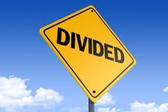 τρισδιάστατη απεικόνιση ενός οδικού σημαδιού _divided_angle3 στοκ φωτογραφίες