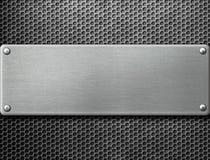 Τρισδιάστατη απεικόνιση μεταλλικών πιάτων Στοκ Εικόνα