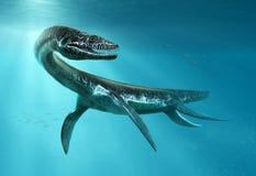 Τρισδιάστατη απεικόνιση σκηνής Plesiosaurus Στοκ εικόνα με δικαίωμα ελεύθερης χρήσης