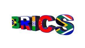 τρισδιάστατη απεικόνιση της ένωσης BRICS που απομονώνεται σε ένα άσπρο υπόβαθρο απεικόνιση αποθεμάτων