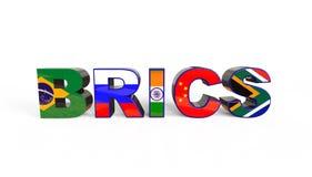 τρισδιάστατη απεικόνιση της ένωσης BRICS ελεύθερη απεικόνιση δικαιώματος