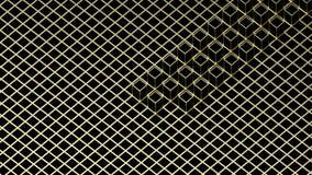 τρισδιάστατη απόδοση Αφηρημένος χρυσός τετραγωνικός φραγμός μορφής στο σκοτεινό υπόβαθρο κιβωτίων κύβων χρώματος Στοκ Εικόνες