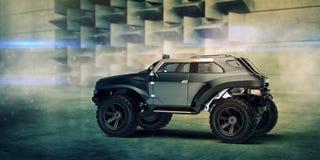 τρισδιάστατη απόδοση - γενική έννοια πλαϊνό αυτοκίνητο Στοκ Εικόνες