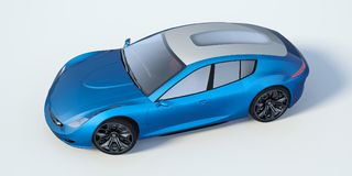 τρισδιάστατη απόδοση - γενικό αυτοκίνητο έννοιας Στοκ εικόνες με δικαίωμα ελεύθερης χρήσης