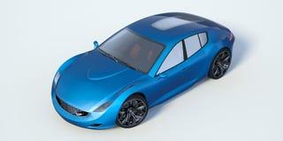 τρισδιάστατη απόδοση - γενικό αυτοκίνητο έννοιας Στοκ εικόνα με δικαίωμα ελεύθερης χρήσης