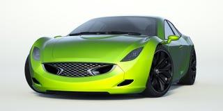 τρισδιάστατη απόδοση - γενικό αυτοκίνητο έννοιας Στοκ Εικόνα