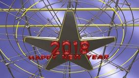Τρισδιάστατη απόδοση καλής χρονιάς Στοκ Εικόνα