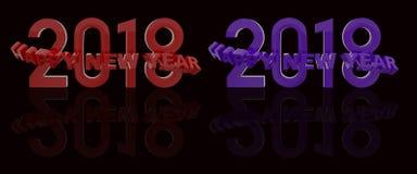 Τρισδιάστατη απόδοση καλής χρονιάς Στοκ Φωτογραφίες