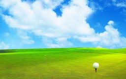 τρισδιάστατη απόδοση, σφαίρα γκολφ, στοκ φωτογραφίες
