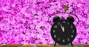 τρισδιάστατη απόδοση του ξυπνητηριού με τα μικρά πρακτικά σε δώδεκα ο ` cloc Στοκ φωτογραφίες με δικαίωμα ελεύθερης χρήσης