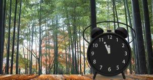 τρισδιάστατη απόδοση του ξυπνητηριού με τα μικρά πρακτικά σε δώδεκα ο ` cloc Στοκ εικόνα με δικαίωμα ελεύθερης χρήσης