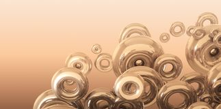 τρισδιάστατη απόδοση του υποβάθρου με το χρυσό δακτύλιο ελεύθερη απεικόνιση δικαιώματος