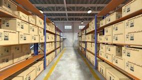 τρισδιάστατη απόδοση CG της αποθήκης εμπορευμάτων στοκ φωτογραφία με δικαίωμα ελεύθερης χρήσης