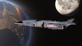 τρισδιάστατη απόδοση CG του διαστημικού σκάφους στοκ εικόνες