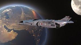 τρισδιάστατη απόδοση CG του διαστημικού σκάφους στοκ εικόνα με δικαίωμα ελεύθερης χρήσης